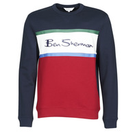 textil Herre Sweatshirts Ben Sherman COLOUR BLOCKED LOGO SWEAT Marineblå / Rød