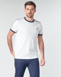 textil Herre T-shirts m. korte ærmer Fred Perry TAPED RINGER T-SHIRT Hvid