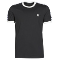 textil Herre T-shirts m. korte ærmer Fred Perry TAPED RINGER T-SHIRT Sort