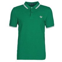 textil Herre Polo-t-shirts m. korte ærmer Fred Perry TWIN TIPPED FRED PERRY SHIRT Grøn