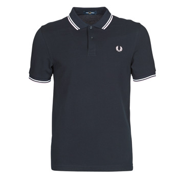 textil Herre Polo-t-shirts m. korte ærmer Fred Perry TWIN TIPPED FRED PERRY SHIRT Blå / Hvid