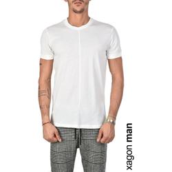 textil Herre T-shirts m. korte ærmer Xagon Man  Hvid