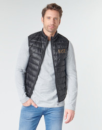 textil Herre Dynejakker Emporio Armani EA7 CORE ID 8NPQ02 Sort / Guld