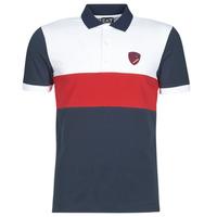 textil Herre Polo-t-shirts m. korte ærmer Emporio Armani EA7 SEA WORLD ST TROPEZ Marineblå / Hvid / Rød