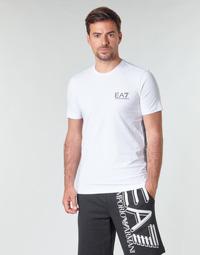 textil Herre T-shirts m. korte ærmer Emporio Armani EA7 TRAIN LOGO SERIES M TAPE TEE ST Hvid