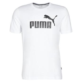 textil Herre T-shirts m. korte ærmer Puma ESSENTIAL TEE Hvid