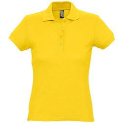 textil Dame Polo-t-shirts m. korte ærmer Sols PASSION WOMEN COLORS Amarillo
