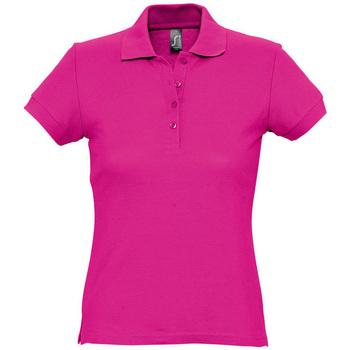 textil Dame Polo-t-shirts m. korte ærmer Sols PASSION WOMEN COLORS Violeta