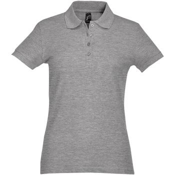 textil Dame Polo-t-shirts m. korte ærmer Sols PASSION WOMEN COLORS Gris