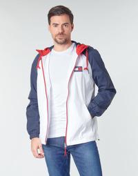 textil Herre Jakker Tommy Jeans TJM COLORBLOCK ZIPTHROUGH JCKT Hvid / Blå / Rød