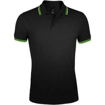 textil Herre Polo-t-shirts m. korte ærmer Sols PASADENA MODERN MEN Negro
