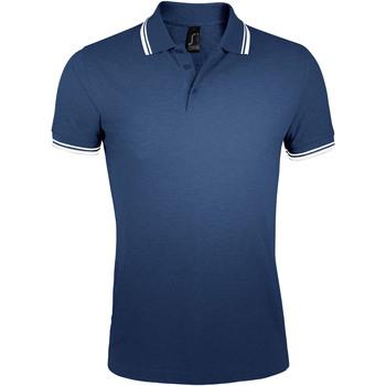textil Herre Polo-t-shirts m. korte ærmer Sols PASADENA MODERN MEN Azul