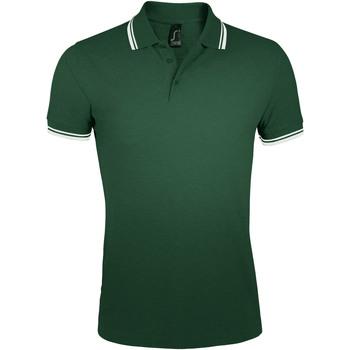 textil Herre Polo-t-shirts m. korte ærmer Sols PASADENA MODERN MEN Verde