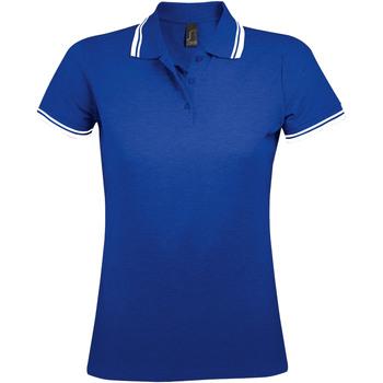 textil Dame Polo-t-shirts m. korte ærmer Sols PASADENA MODERN WOMEN Azul