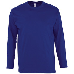 textil Herre Langærmede T-shirts Sols MONARCH COLORS MEN Azul