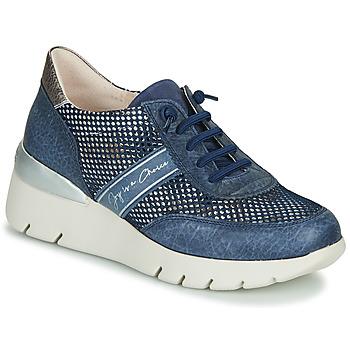 Sko Dame Lave sneakers Hispanitas RUTH Blå / Guld / Sølv