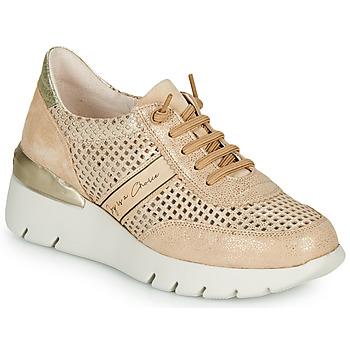 Sko Dame Lave sneakers Hispanitas RUTH Pink / Guld / Hvid