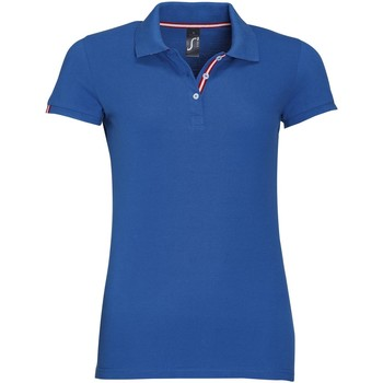 textil Dame Polo-t-shirts m. korte ærmer Sols PATRIOT FASHION WOMEN Azul