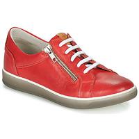 Sko Dame Lave sneakers Dorking KAREN Rød / Beige