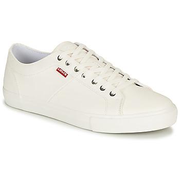 Sko Herre Lave sneakers Levi's WOODWARD Hvid