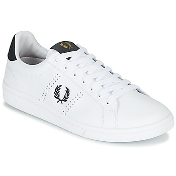 Sko Herre Lave sneakers Fred Perry B721 LEATHER Hvid
