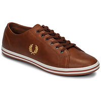 Sko Herre Lave sneakers Fred Perry KINGSTON LEATHER Brun
