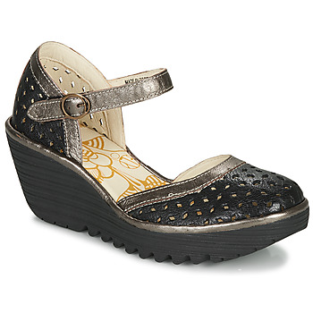 Sko Dame Højhælede sko Fly London YVEN Sort / Bronze