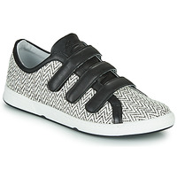 Sko Dame Lave sneakers Pataugas JULIETTE Sort / Hvid
