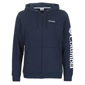 textil Herre Sweatshirts Columbia COLUMBIA LOGO FLEECE FULL ZIP Blå