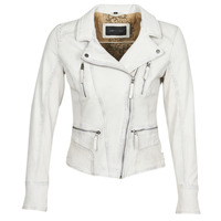 textil Dame Jakker i læder / imiteret læder Oakwood CAMERA Hvid