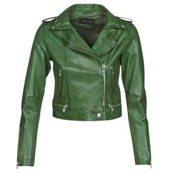 textil Dame Jakker i læder / imiteret læder Oakwood KYOTO Grøn