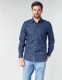 textil Herre Skjorter m. lange ærmer Pepe jeans ADAN Marineblå