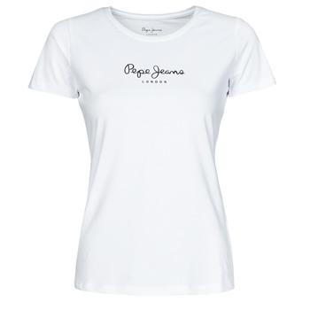 textil Dame T-shirts m. korte ærmer Pepe jeans NEW VIRGINIA Hvid