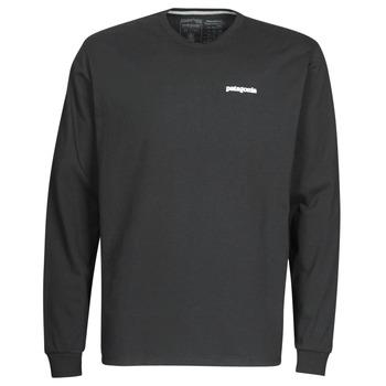 textil Herre Langærmede T-shirts Patagonia M's L/S P-6 Logo Responsibili-Tee Sort