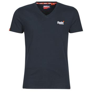 textil Herre T-shirts m. korte ærmer Superdry ORANGE LABEL VNTGE EMB VEE TEE Eclipse / Navy