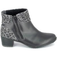 Sko Dame Høje støvletter Boissy Boots Noir Leopard Sort