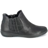Sko Dame Støvler Boissy Boots Noir texturé Sort