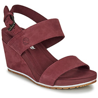 Sko Dame Sandaler Timberland CAPRI SUNSET WEDGE Bordeaux