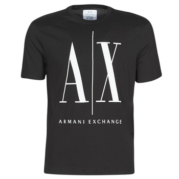 textil Herre T-shirts m. korte ærmer Armani Exchange HULO Sort