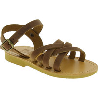 Sko Pige Sandaler Attica Sandals HEBE NUBUK DK BROWN Marrone medio