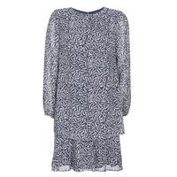textil Dame Korte kjoler Lauren Ralph Lauren Alois Marineblå / Hvid