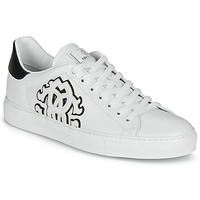 Sko Herre Lave sneakers Roberto Cavalli 1005 Hvid / Sort
