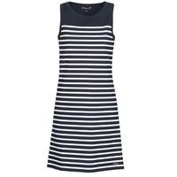 textil Dame Korte kjoler Armor Lux  Marineblå / Hvid