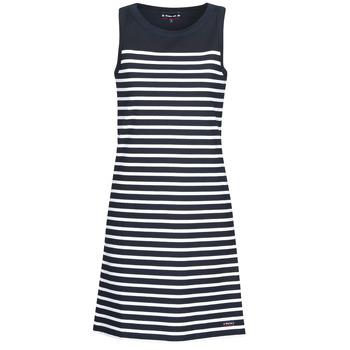 textil Dame Korte kjoler Armor Lux YITINE Marineblå / Hvid