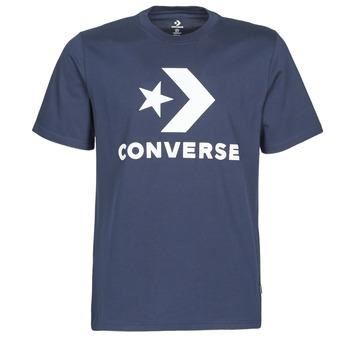 textil Herre T-shirts m. korte ærmer Converse STAR CHEVRON TEE Blå