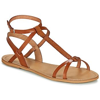 Sko Dame Sandaler So Size BEALO Kamel