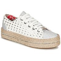 Sko Dame Lave sneakers Café Noir MERYOU Hvid / Sølv