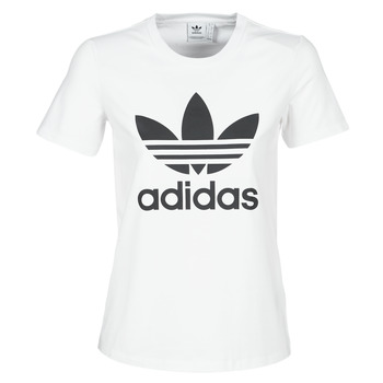 textil Dame T-shirts m. korte ærmer adidas Originals TREFOIL TEE Hvid