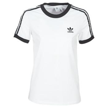 textil Dame T-shirts m. korte ærmer adidas Originals 3 STR TEE Hvid