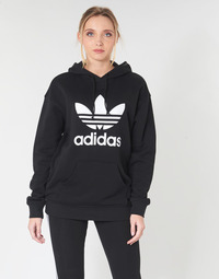 textil Dame Sweatshirts adidas Originals TRF HOODIE Sort